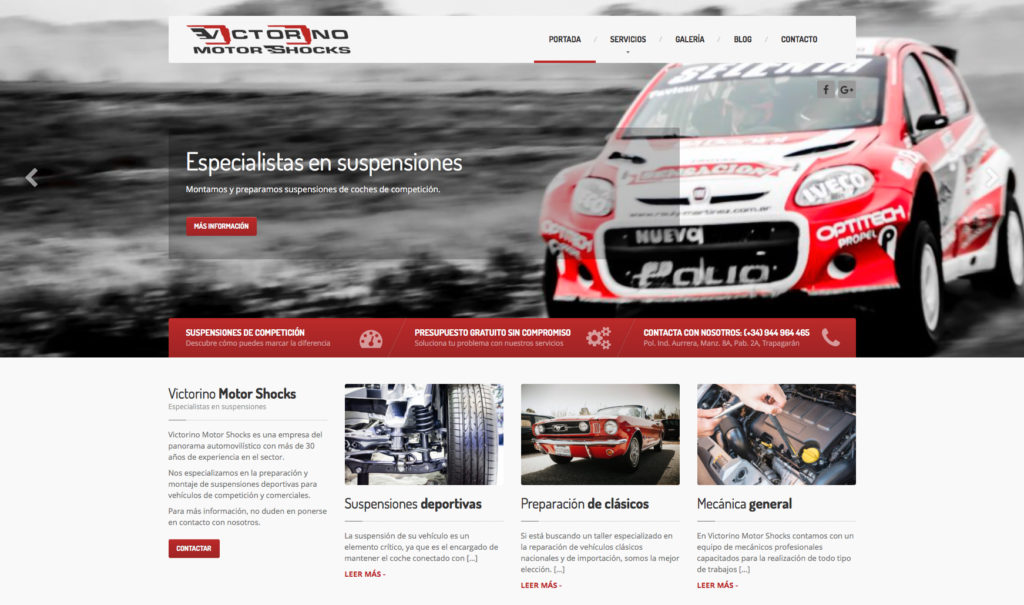 Victorino Motor Shocks - Vista Web 1