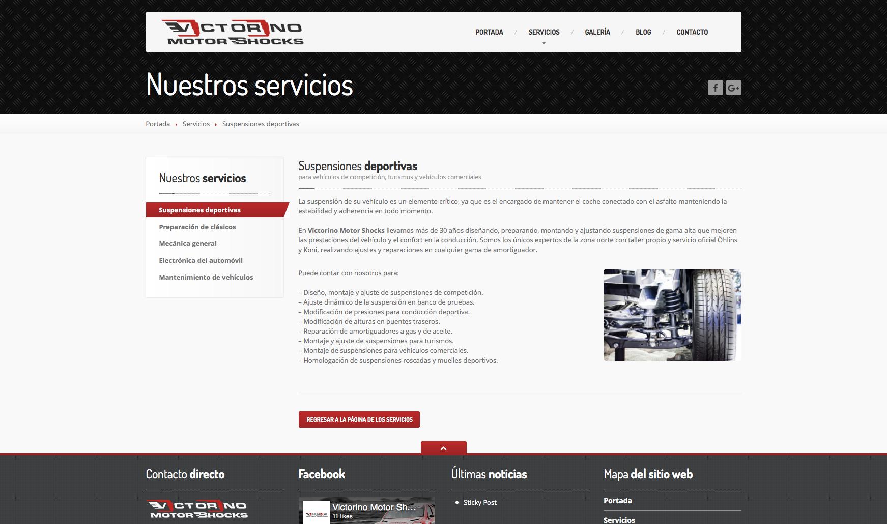 Victorino Motor Shocks - Vista Web 3
