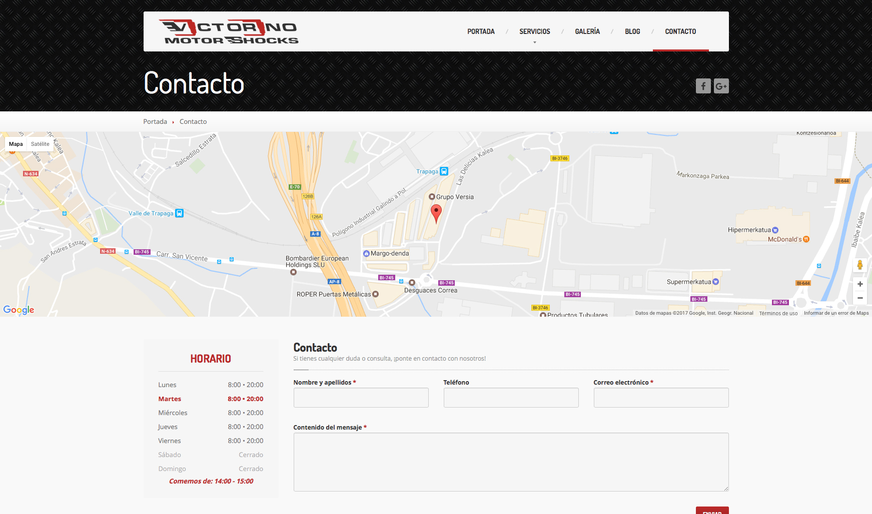Victorino Motor Shocks - Vista Web 5